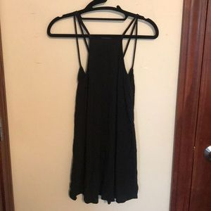 Black high neck dress with open strap back